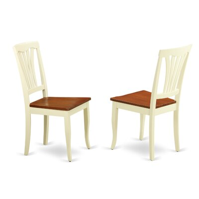 Attamore Solid Wood Dining Chair (Set of 2) Finish: Buttermilk and Cherry