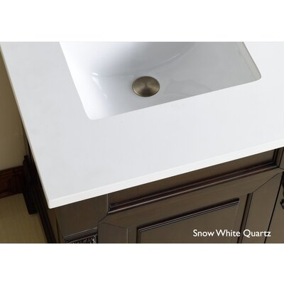 Bedrock 60 Single Antique Black Bathroom Vanity Set with Drawers Top Finish: Snow White Quartz Top