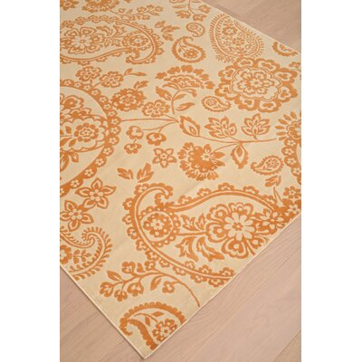 Beecroft Tangerine/Ivory Area Rug Rug Size: Rectangle 710 x 112