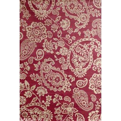 Beecroft Raspberry/Ivory Area Rug Rug Size: 710 x 112