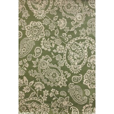 Aldona Green/Ivory Area Rug Rug Size: Rectangle 53 x 76
