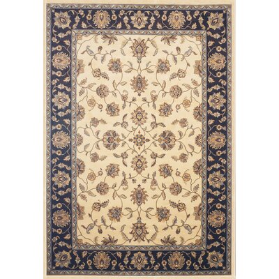 Beecroft Cream/Chocolate Area Rug Rug Size: 53 x 76