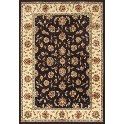 Beecroft Chocolate/Cream Area Rug Rug Size: Rectangle 710 x 112
