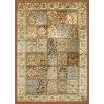 Beecroft Tan/Rust/Light Blue Area Rug Rug Size: 53 x 76