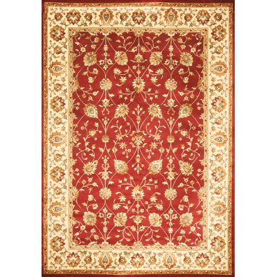 Beecroft Red Area Rug Rug Size: 53 x 76
