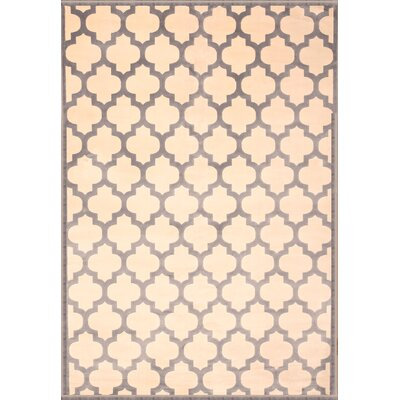 Beecroft Light Blue/Ivory Area Rug Rug Size: 53 x 76