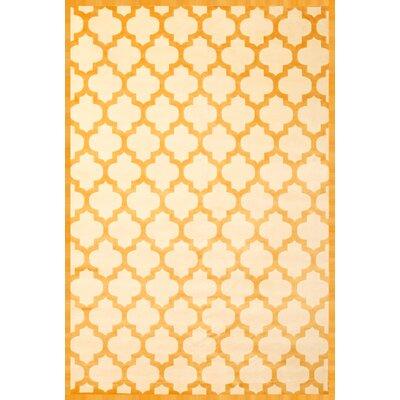 Beecroft Tangerine/Ivory Area Rug Rug Size: 53 x 76