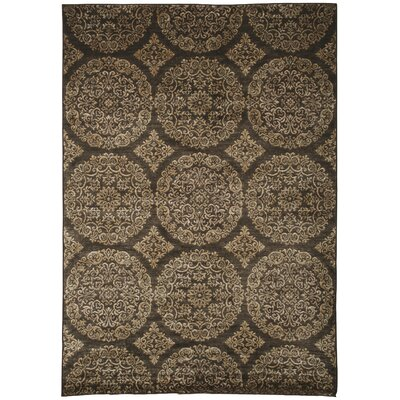 Beecroft Gold/Chocolate Area Rug Rug Size: 710 x 112