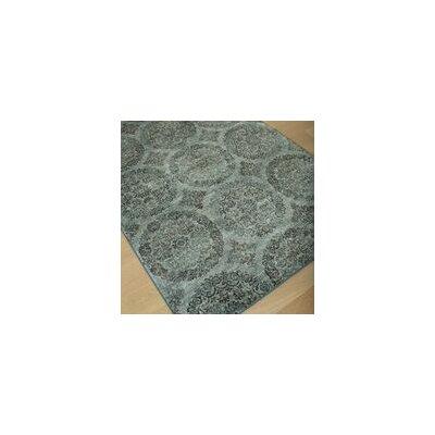 Beecroft Grey-Blue/Chocolate Rug Size: 5' x 8'