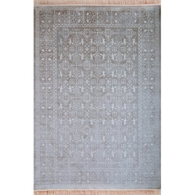 Beecroft Silver-Grey/White Area Rug Rug Size: 710 x 112