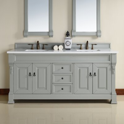 Bedrock 72 Double Bathroom Vanity Base Base Finish: Urban Grey