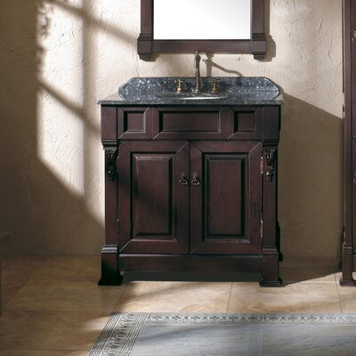 Bedrock 36 Single Vanity Base Base Finish: Burnished Mahogany