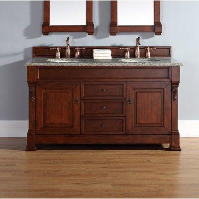 Bedrock 60 Double Bathroom Vanity Base II