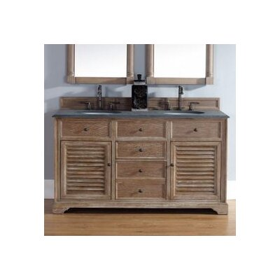 Belhaven 60 Double Cabinet Vanity Base Base Finish: Driftwood