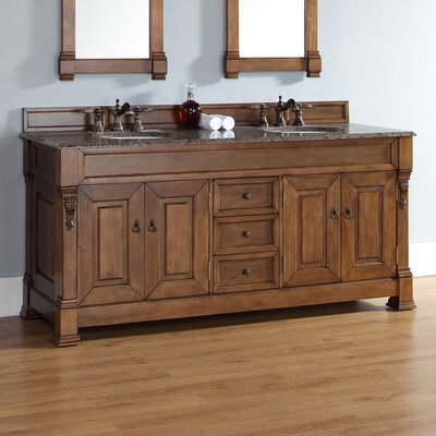 Bedrock 72 Double Cabinet Vanity Base Base Finish: Country Oak