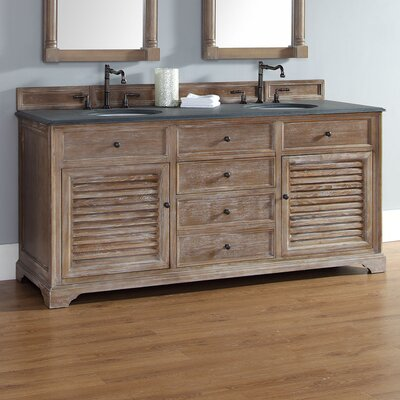 Belhaven 72 Double Bathroom Vanity Base Base Finish: Driftwood