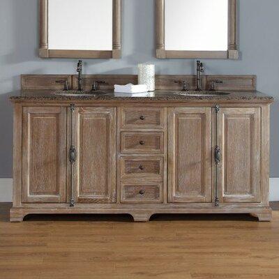 Belhaven 72 Double Cabinet Vanity Base Base Finish: Driftwood