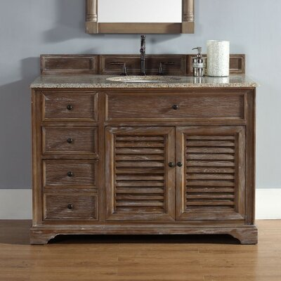 Bedrock 48 Single Cabinet Vanity Base Base Finish: Driftwood