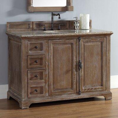 Belhaven 48 Single Cabinet Vanity Base Base Finish: Driftwood