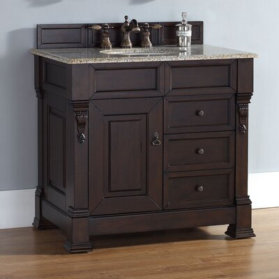 Bedrock 35 Single Cabinet Vanity Base Base Finish: Burnished Mahogany