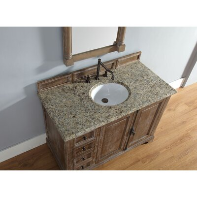 Belhaven 48 Single Driftwood Bathroom Vanity Set Top Finish: Santa Cecilia Granite Top