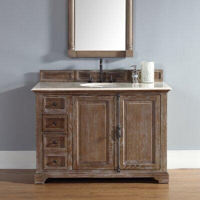 Belhaven 48 Single Driftwood Bathroom Vanity Set Top Finish: Galala Beige Marble Top