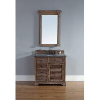 Belfield 36 Single Driftwood Bathroom Vanity Set Top Finish: Absolute Black Rustic Granite Top
