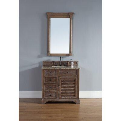Belfield 36 Single Driftwood Bathroom Vanity Set Top Finish: Santa Cecilia Granite Top