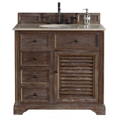 Belfield 36 Single Driftwood Bathroom Vanity Set Top Finish: Galala Beige Marble Top
