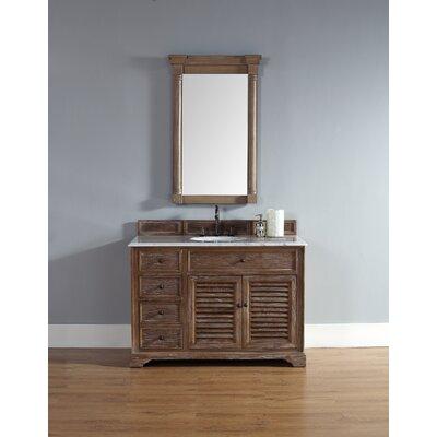 Belfield 48 Single Driftwood Bathroom Vanity Set Top Finish: Carrera White Marble Top