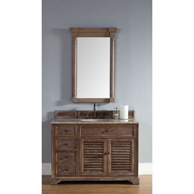 Belfield 48 Single Driftwood Bathroom Vanity Set Top Finish: Santa Cecilia Granite Top