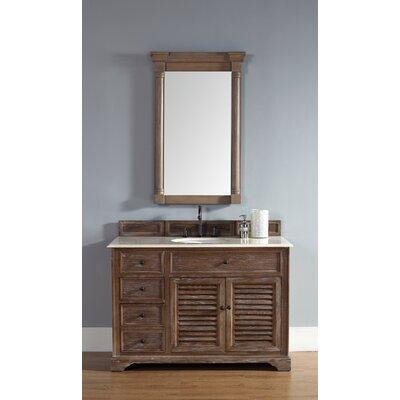 Belfield 48 Single Driftwood Bathroom Vanity Set Top Finish: Galala Beige Marble Top