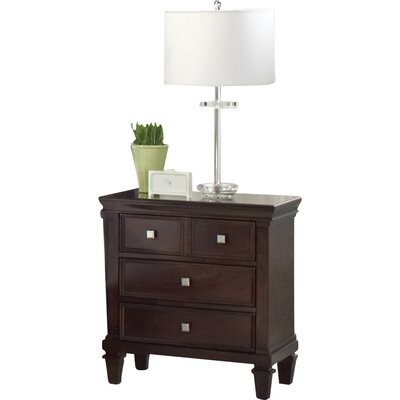Gerhard 3 Drawer Nightstand Finish: Capuccino
