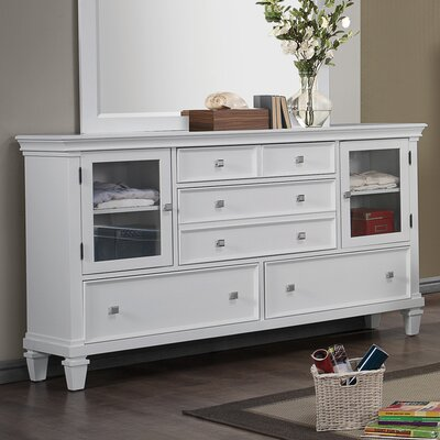Gerhard 5 Drawer Dresser Color: White