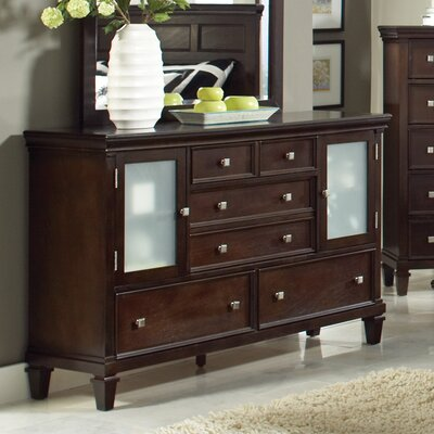 Gerhard 5 Drawer Dresser Color: Cappuccino