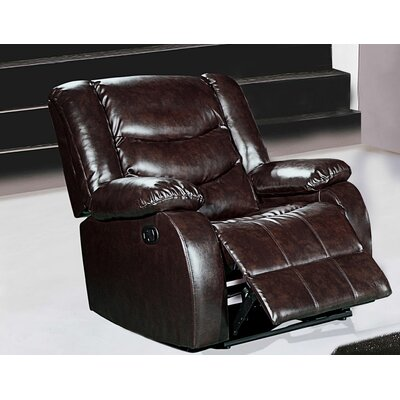 Phoenixville Rocker Reclining Chair Upholstery: Brown
