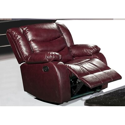 Phoenixville Rocker Reclining Chair Upholstery: Burgundy