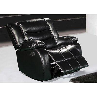 Phoenixville Rocker Reclining Chair Upholstery: Black