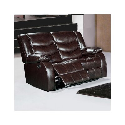 Phoenixville Reclining Loveseat Upholstery: Brown