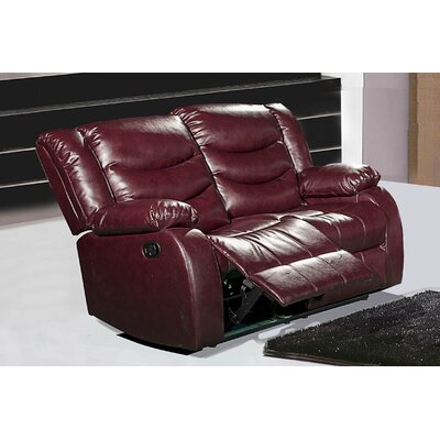 Phoenixville Reclining Loveseat Upholstery: Burgundy