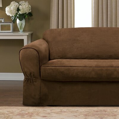 Barras 2 Piece Sofa Slipcover Upholstery: Chocolate