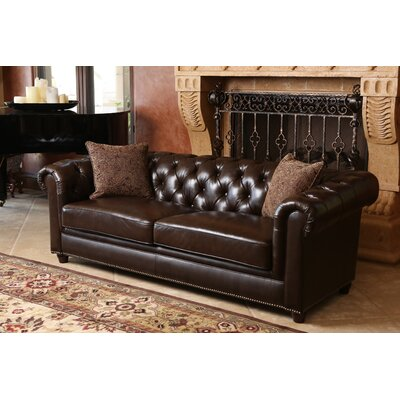Lizzie Leather Chesterfield Sofa