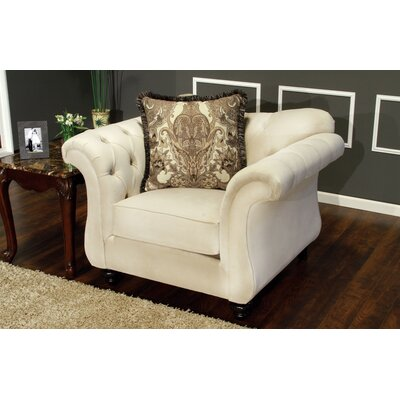Ethelyn Armchair MLB Team: Cream White