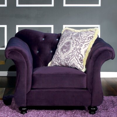 Ethelyn Armchair MLB Team: Purple