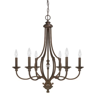 Jaclyn 6-Light Candle-Style Chandelier
