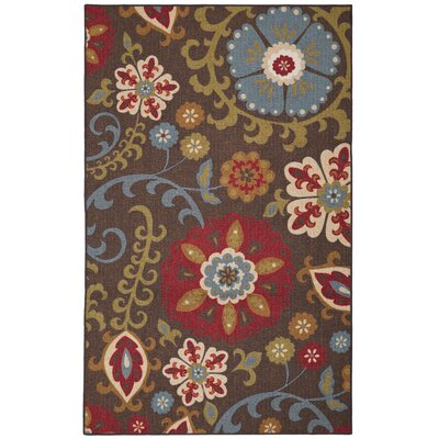 Christi Sage/Brown Area Rug Rug Size: Rectangle 5x8