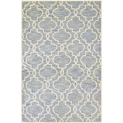 Willisville Hand-Woven Blue Area Rug Rug Size: Rectangle 57 x 8