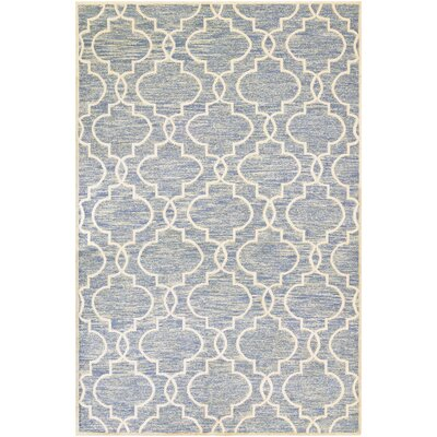 Willisville Hand-Woven Blue Area Rug Rug Size: 95 x 137