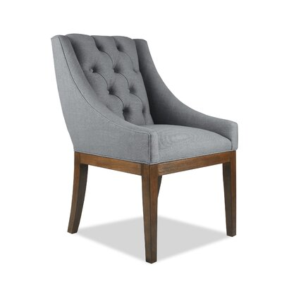 Haley Side Chair Upholstery: Charcoal, Finish: Cognac