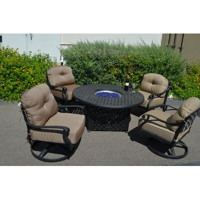 Nola 5 Piece Deep Seating Group with Cushions